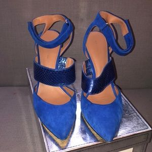 Cobalt high heels